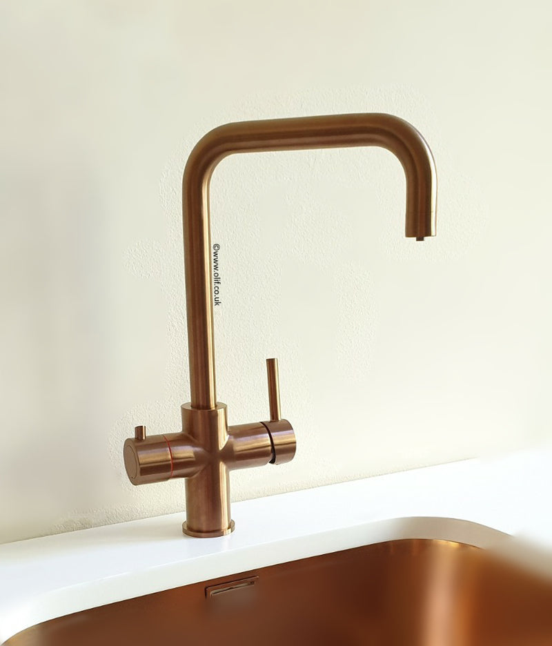 Olif Triniti 3n1 Instant Hot Water tap Copper, with boiler and filter