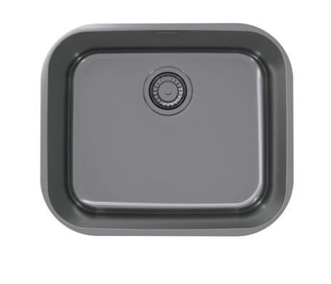 Pack of Alveus Monarch Variant 10 Anthracite sink and matching Anthracite tap