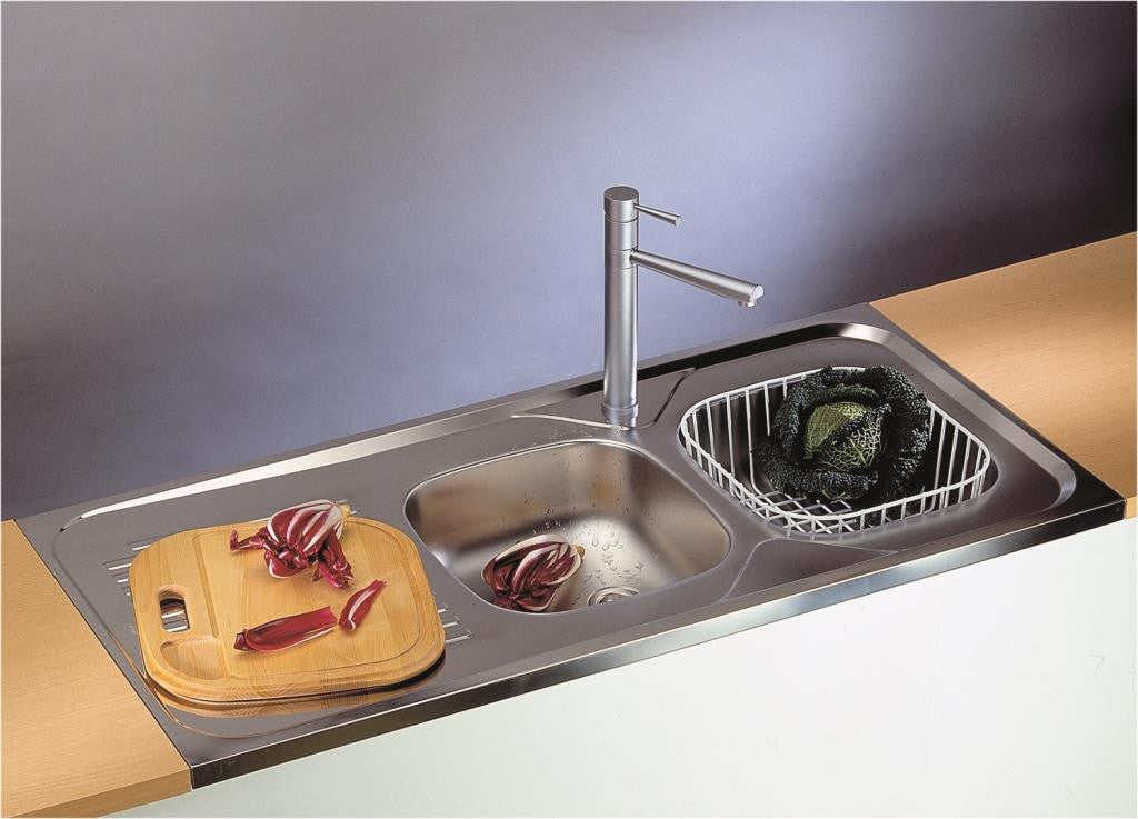 Sit on kitchen sink, double bowl | Alveus Classic 100 – Olif