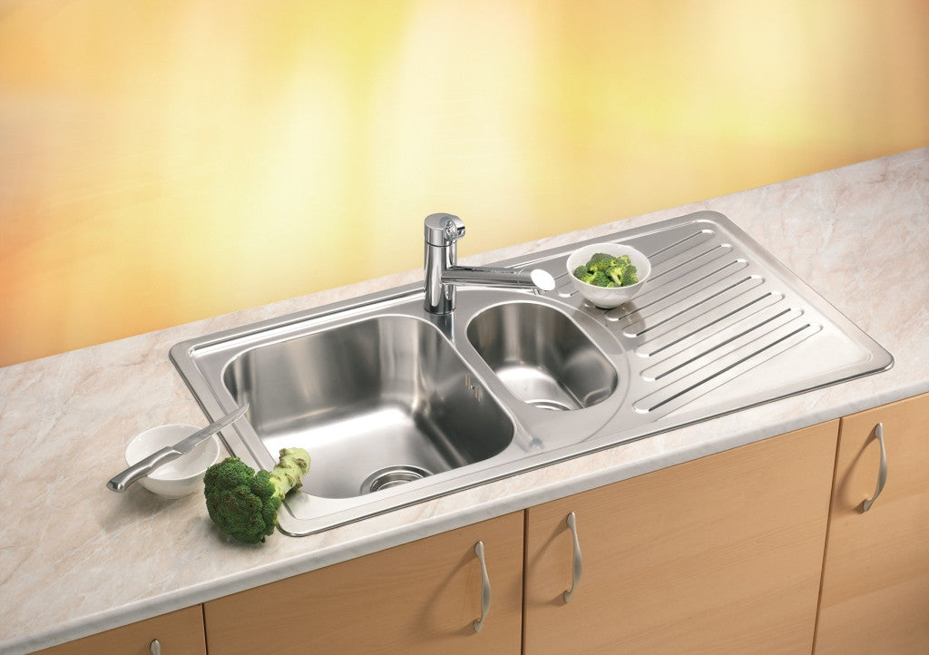 Alveus Elegant 100, inset sink, satin finish