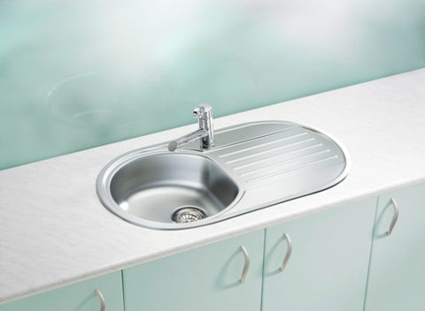 Alveus Form 40, round bowl sink with drainer