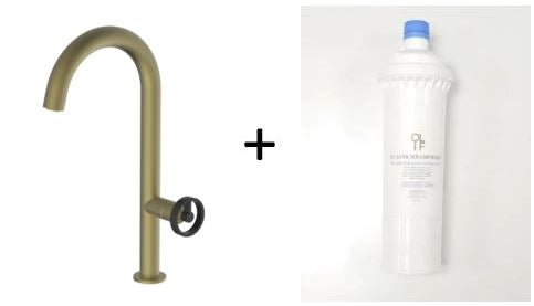 Forte Brass/Gold Mix & Match, kitchen mixer tap