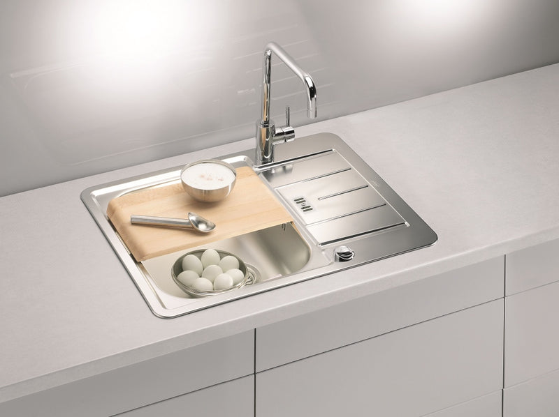 Alveus Line Maxim 60, inset sink, satin finish