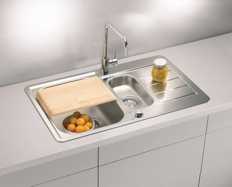 Alveus Line 70, inset sink, satin finish