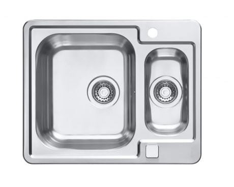 Alveus Line Maxim 50, inset sink, satin finish