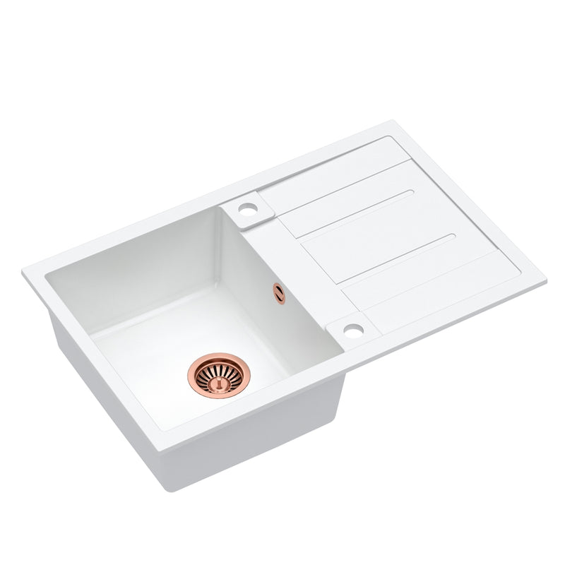 Quadron Morgan 111 White topmount sink, Mix and Match