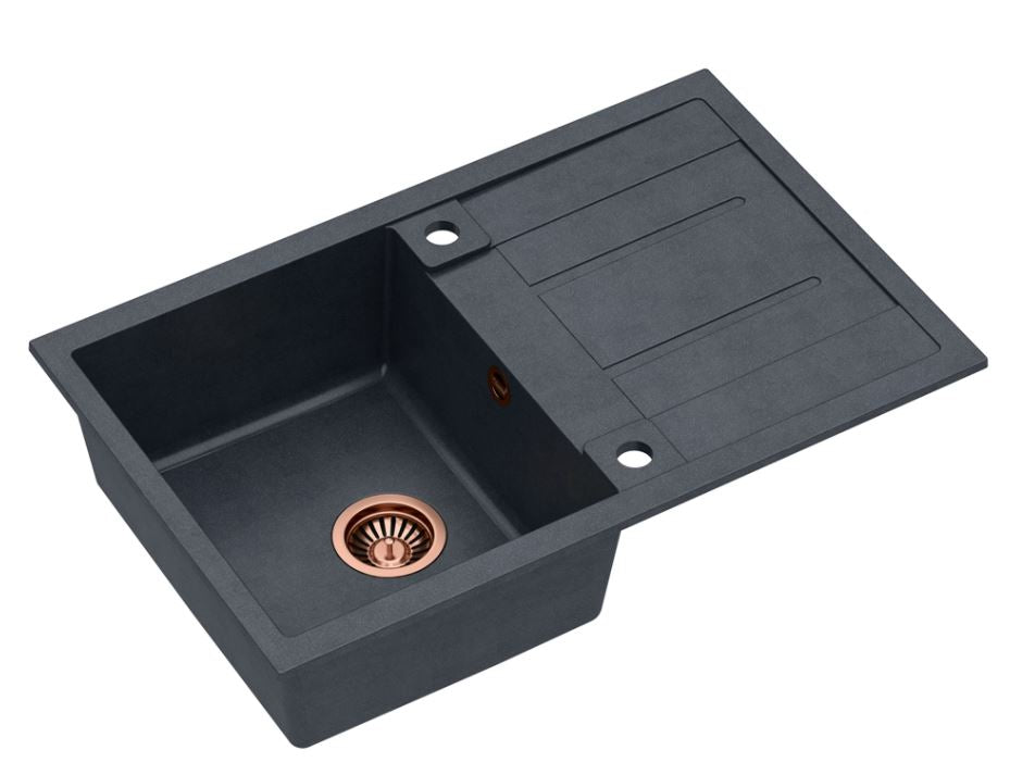 Quadron Morgan 111 Black topmount sink, Mix and Match