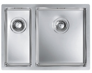 Alveus Quadrix 120, flush or flat-mount sink