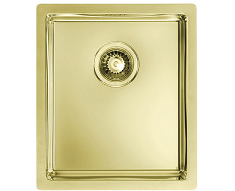 Alveus Monarch Quadrix 20 Gold, flush/slim/undermount sink
