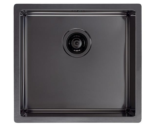 Pack of Alveus Monarch Quadrix 30 Anthracite sink and matching Anthracite tap