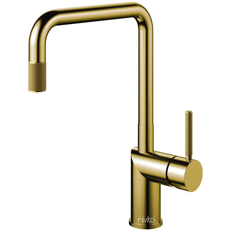 Nivito RH 340 INDUSTRIAL Brushed Brass/Gold, kitchen mixer tap