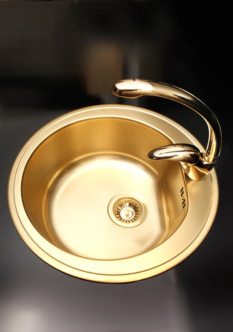 Alveus Monarch Fontana Gold, kitchen mixer tap