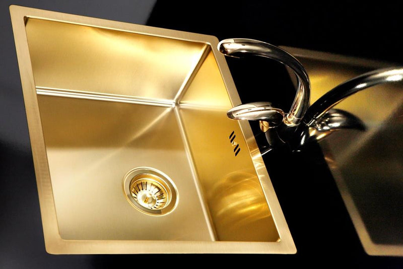 Alveus Monarch Quadrix 50 Gold, flush/slim/undermount sink - A FACTORY SECOND (30% discount) - B