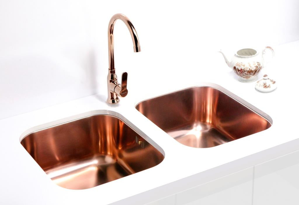 undermount with creative home in copper kitchen plan sink decoration