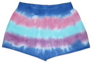 Marine Stripes Tie Dye Shorts