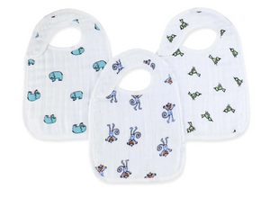 3-Pack Snap Bib