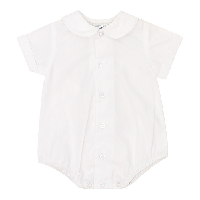 Boys White S/S Onesie