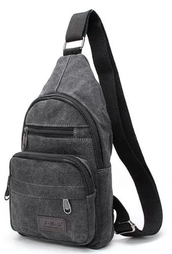 JHG Vintage Canvas Satchel Shoulder Bag Messenger Travel Bag Men Women Crossbody Bag