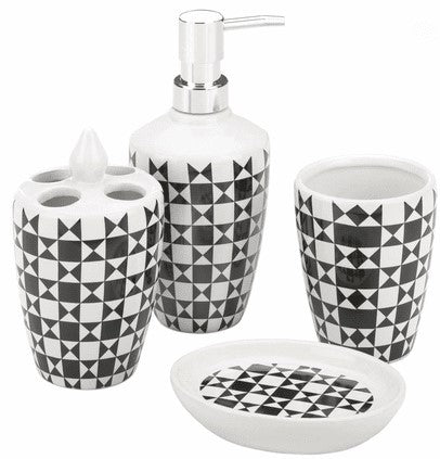 ETRUIA 4 Piece Luxury Bathroom Accessory Set