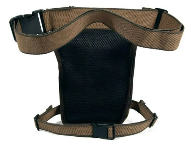 AOLAIEUD Tactical Canvas Drop Leg Bag Motorcycle Rider Men Outdoor  Belt Waist Pack Pouch