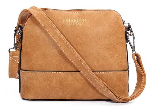FRIARDON ALONSO Women's Nubuck Leather Shell Bags Girls' Vintage Shoulder Bags Crossbody Bags Messenger Bags