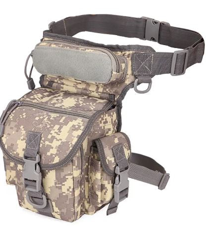 Tactical Waist Drop Waterproof Leg Bag Men's Nylon Belt Fanny Pack