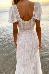 Norma Dress - White