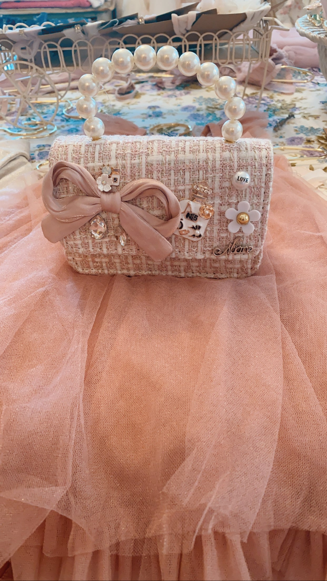 Pearls and Perfume Handbag