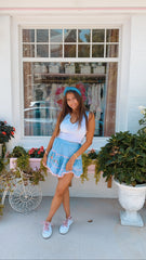 Jennings Skirt-Seaside Afternoon Blue