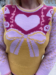 Emani Crewneck Sweater-Warm Heart