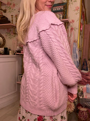 Lake Boyfriend Cardigan-Cherry Blossom Pink