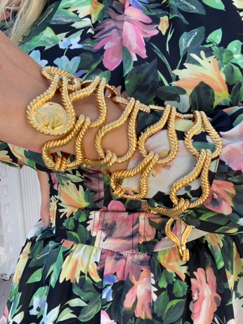 Vintage St. John Belt Gold Knotted