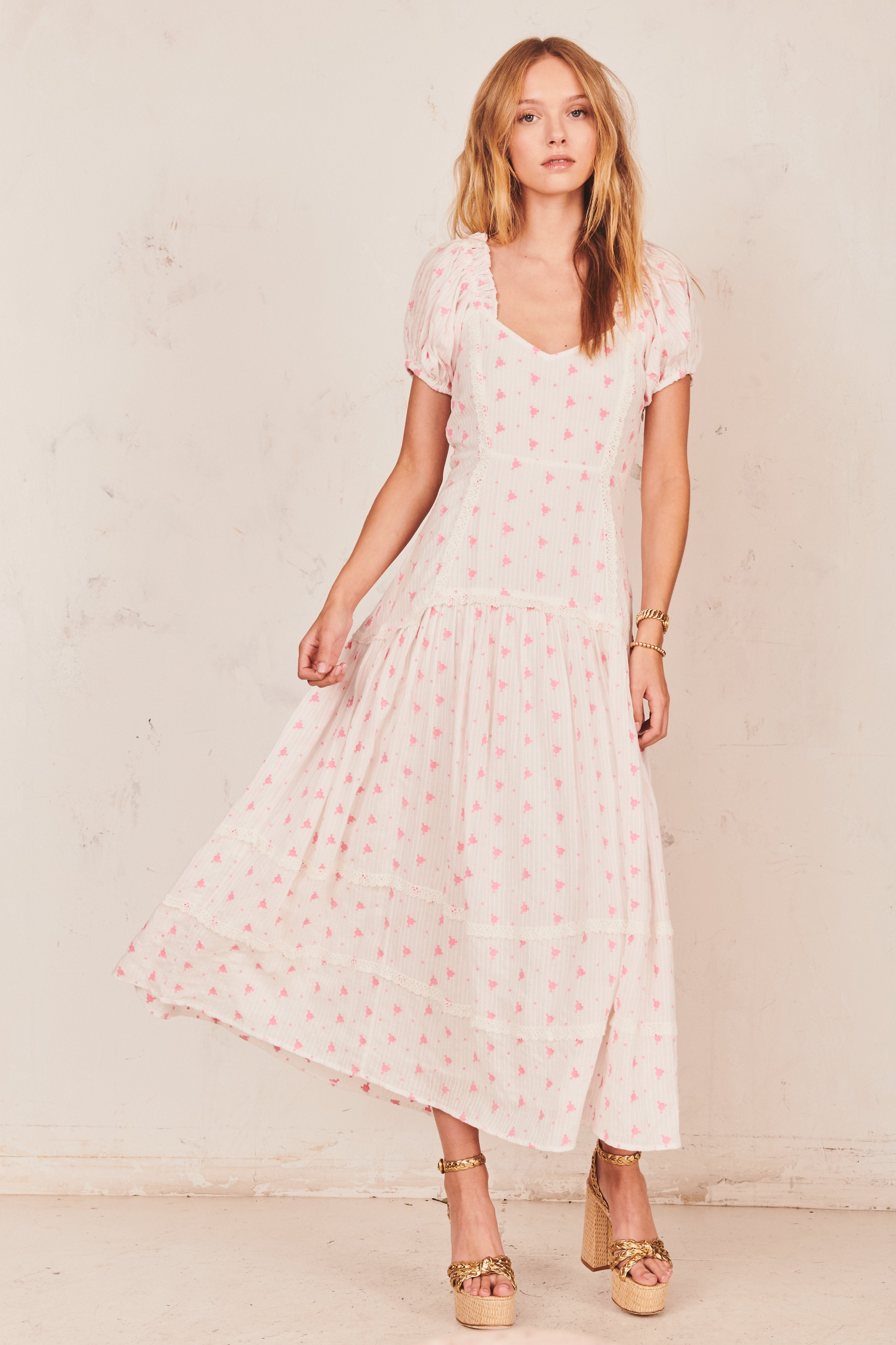 Jeanette Dress-Pebble Pink