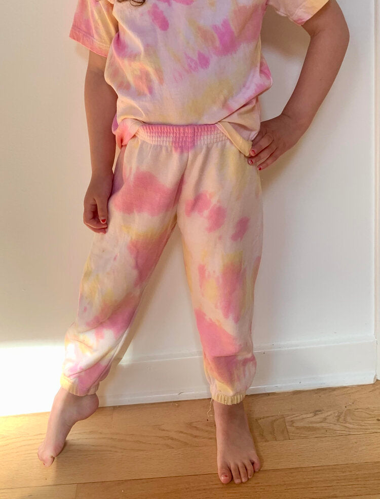 Mo'orea Sweatpant Youth Pink and Yellow