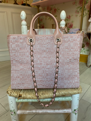 Tweed Customizable Deauville Tote
