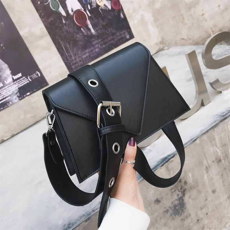 Fashion Small Flap Designer Wide Belts Women Shoulder Bags Luxury Pu Leather Crossbody Messenger Bag Chic Female Purses 2019 Sac