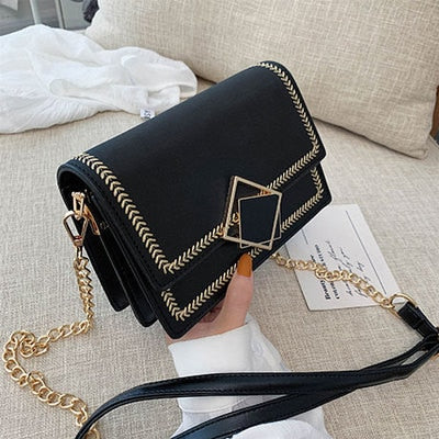 Scrub Leather small Crossbody Bags For Women 2020 chian Shoulder Bag  Sac a Main Female Travel Handbags and Purses Evening Bags