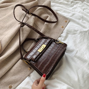 Stone Pattern Leather Crossbody Bags For Women 2020 Fashion Solid Colors Shoulder Bag Female Handbags and Purses With Handle