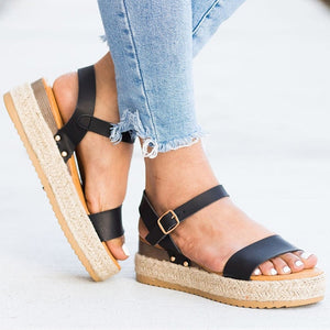 Women Sandals Factory Direct Platform Sandals For Summer Shoes Woman Wedges Heels Sandalias Mujer Soft Bootom Causal Shoes Beach