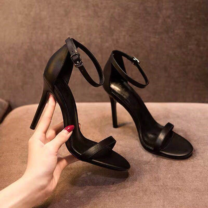 Women Pumps Ankle Strap Shoes For Sexy Peep Toe Heels Sandals Party Wedding Woman High Heels Luxury Black Zapatos 456