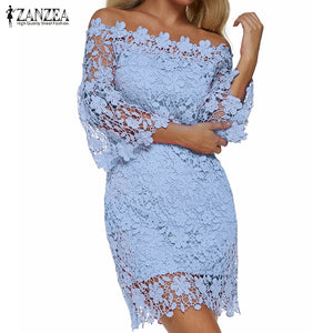 Off Shoulder Patchwork Lace