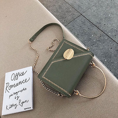 Matcha green PU Leather chain design Crossbody Bags Women Small Chain Handbag small bag Hand Bag Ladies Designer Evening Bags