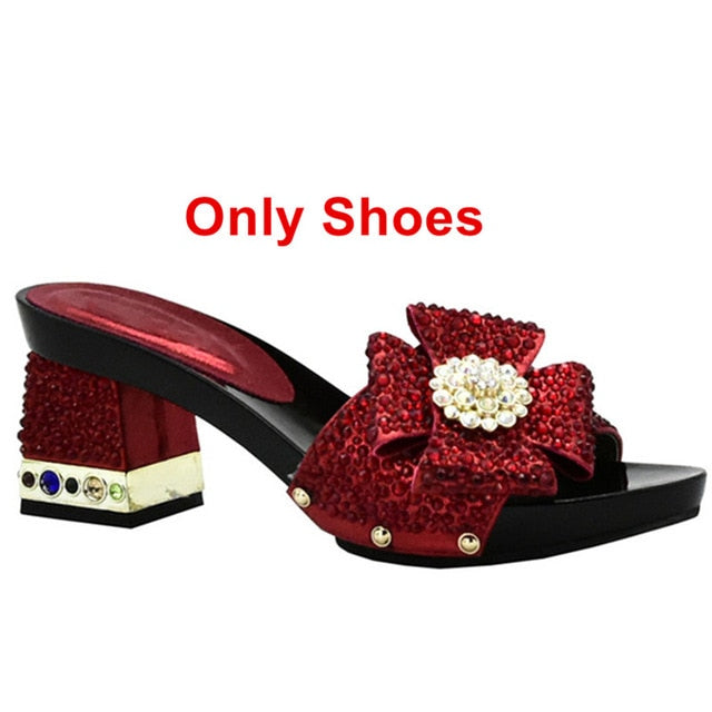 New Arrival Matching Shoes and Bag Set In Heels African Matching Shoes and Bags Italian In Women Nigerian Women Wedding Shoes