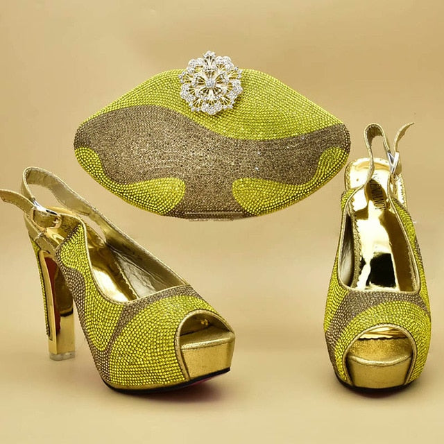 Luxury Shoe & Bag - Italian Crystalline Decorated