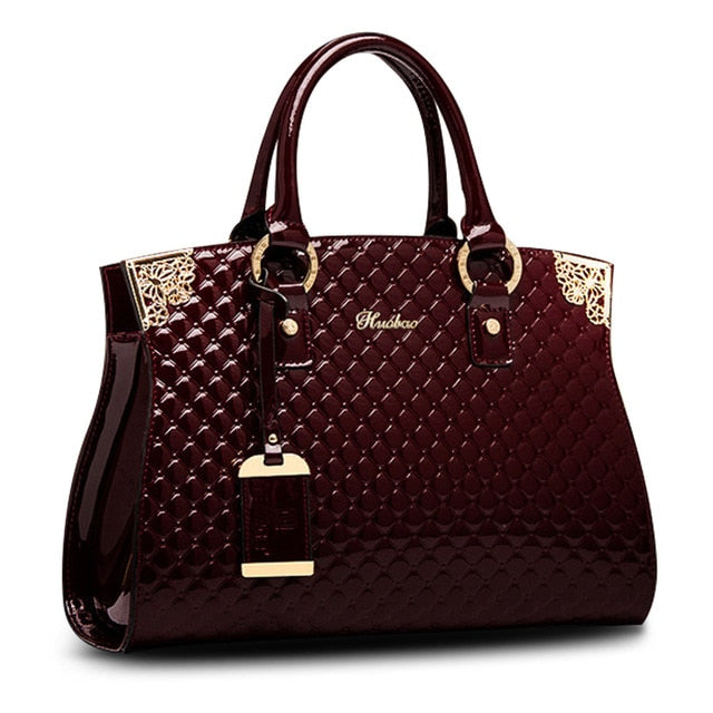 Luxury Handbag - Genuine Patent Leather