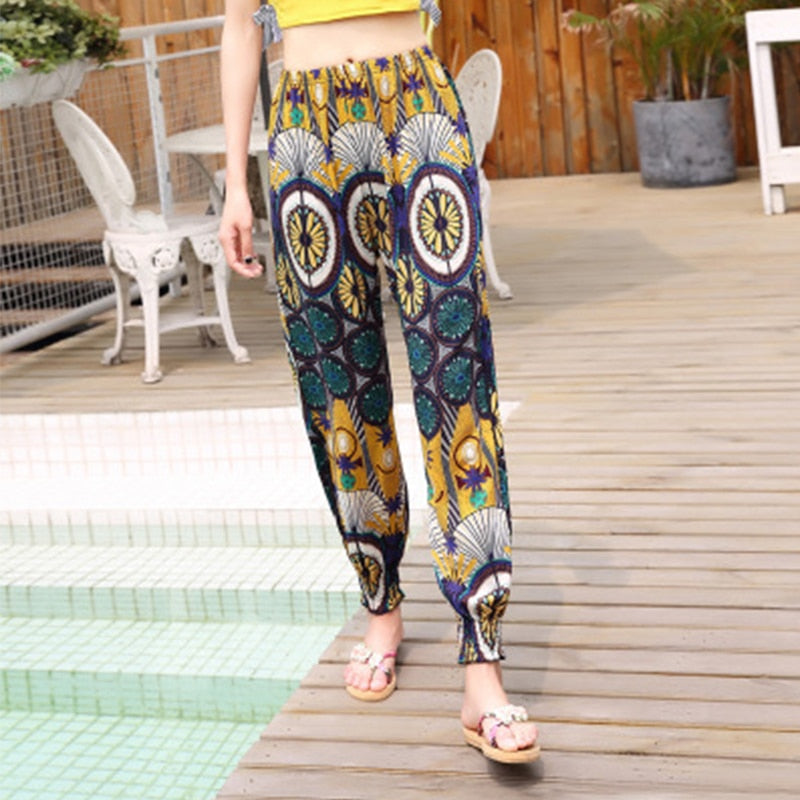 Elastic Waist Summer Pants