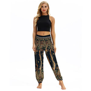 Fashion Bohemian Loose Pant Men Women Casual Hippy Trousers Baggy Aladdin Harem Pant Droppship 20 Colors Штаны для йоги Freeship