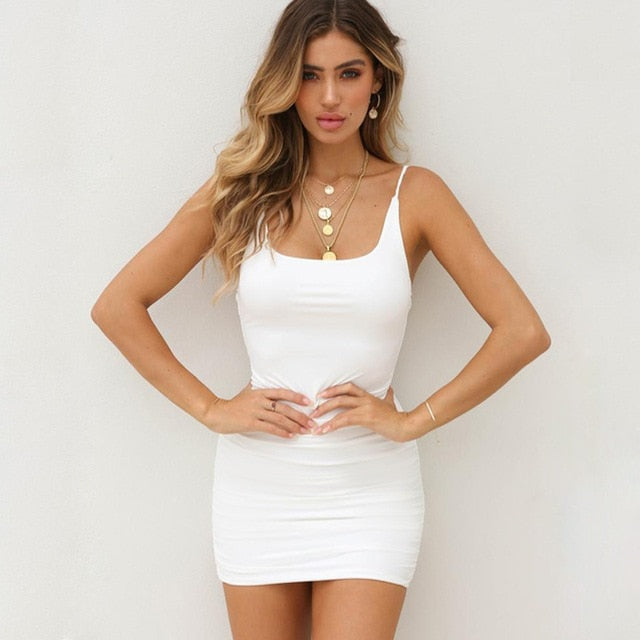 Sleeveless Backless Bodycon