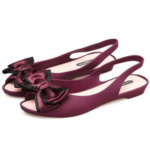 Bow-knot Jelly Sandals