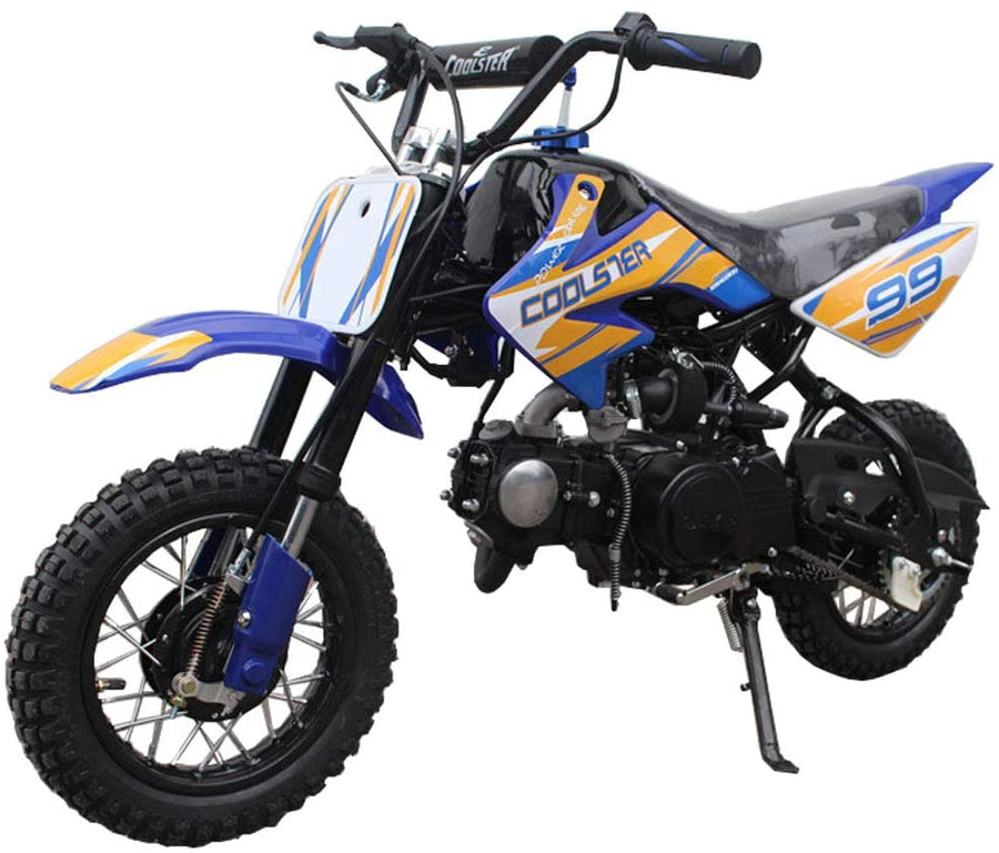 Coolster QG-210 70cc Dirt Bike Semi-Automatic 4 Stroke  Electric Start-Free Shipping
